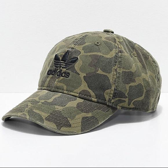 best sell coupon codes best Adidas Originals Camo Hat Trefoil Baseball Cap NWT